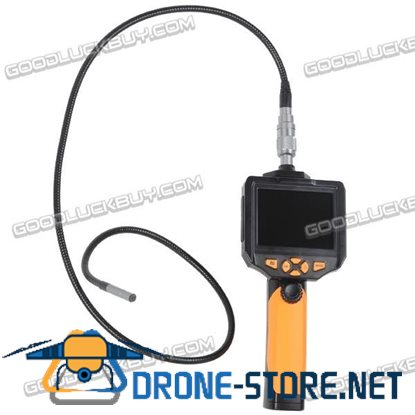 """8.2 mm Endoscope 3.5"""" LCD Inspection Camera Borescope Scope Zoom Rotate 5M Cable"""