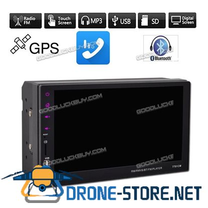"7"" 7701CM 2 Din HD Car Stereo Radio MP5 MP3 Player USB  FM Aux-in"