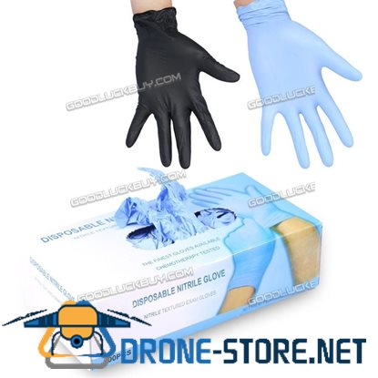100 Latex Free Disposable Gloves Nitrile Tattoo Piercing Mechanic Medical M Size
