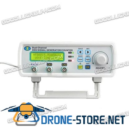 MHS-3200P+ 6M 0-5MHz Dual Channel Full Digital Control Function Signal Generator DDS Signal Source Frequency Meter