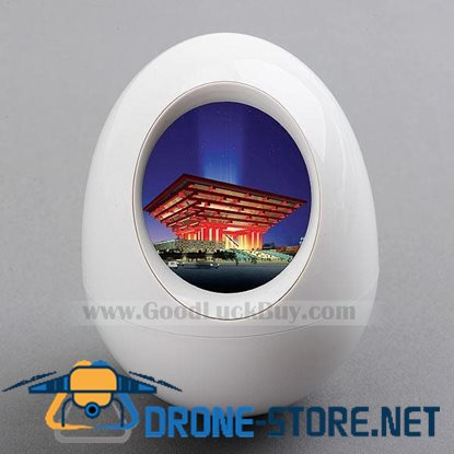 "1.5"" LCD Digital Photo Frame Egg Picture Album Viewer White"