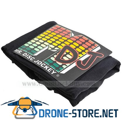 Sound and Music Activated Mr.DJ EL VU-Meter Visualizer DJ T-shirt - M (4*AAA)
