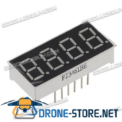 "10 X 0.36"" 7-Segment Super 4 LED Display CA/CC"
