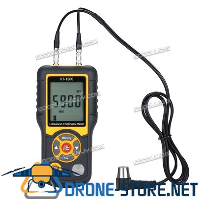 New HT-1200 Digital Thickness Gauge 2.2-225mm 5MH Probe Tester Measuring Tool