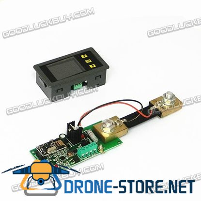 MHF-120S Wireless DC Voltmeter Ammeter Power Meter 0-120V 100A + Shunt MHF120100S