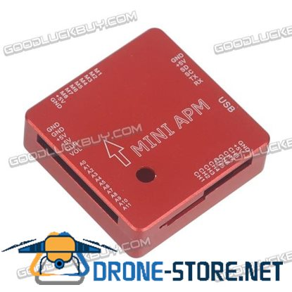 Mini APM V3.1 Flight Controller CNC Metal Casing Protective Shell Red