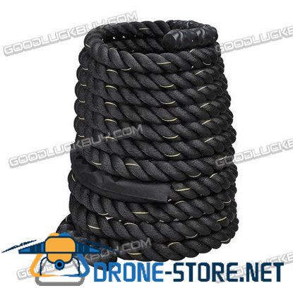 "2"" Poly Dacron 40ft Battle Rope Exercise Workout Strength Training Undulation"