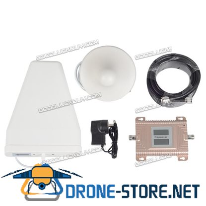 LTE 4G GSM 2G 900/1800MHz 70dB Dual Band Signal Booster Repeater Antenna