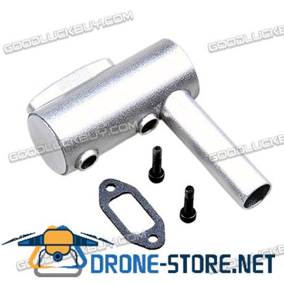 20CC Vent Pipe Rear Exhaust Pipe for DLE20 RC Airplane Engine Gasoline