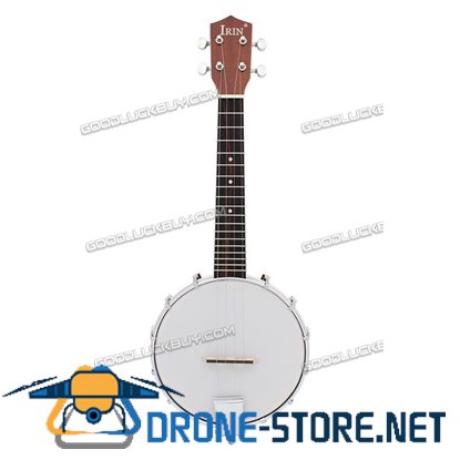4 String Banjo Exquisite Professional Sapelli Notopleura Wood Alloy