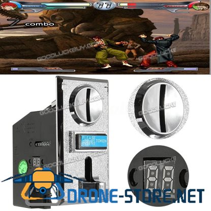 10Pcs Multi Coin Acceptor Selector for Arcade / Vending Machines Game Parts