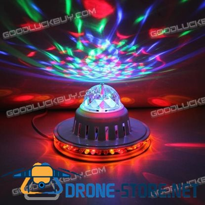 8W RGB LED Disco DJ Stage Lighting Crystal Magic Diamond Ball Laser Light LT-8883