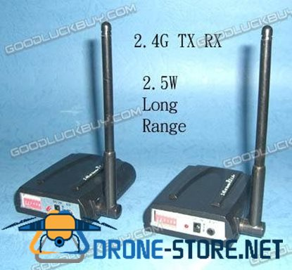 2.5W 6CH Wireless Video 2.4G TX + RX For Camera