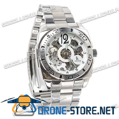 IK Colouring Automatic Mechanical Men Wrist Watch Stainless Steel 98130