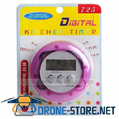 LCD Digital Cooking Kitchen Count Down Up Timer Alarm w/Clip