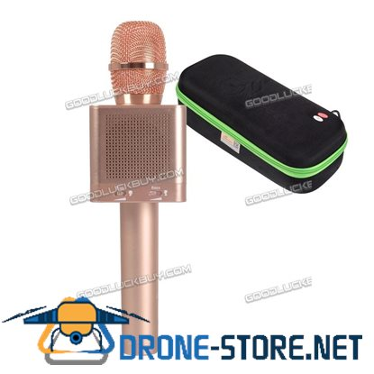 MicGeek Wireless Bluetooth Q10S Karaoke Player Rose Gold Metal Microphone For iphone7/plus