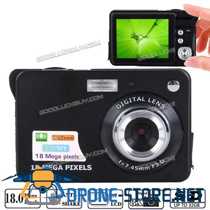 18MP Zoom HD Digital Camera TFT LCD Display Anti-shake Camcorder Video Black