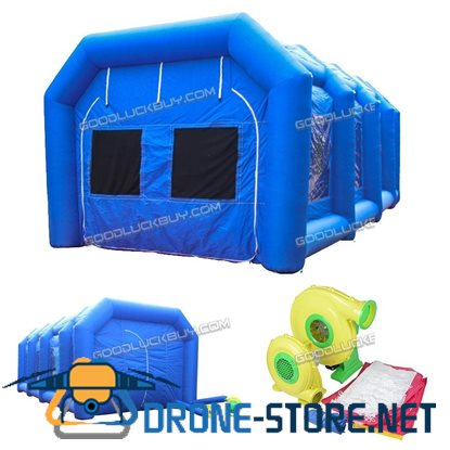 8x4x3M 26Ft Inflatable Spray Booth Custom Tent Car Paint Booth Inflatable Car+2 Blowers