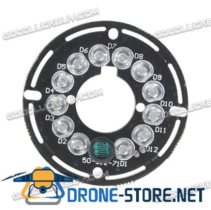 12LED IR Light Plate Board for 8mm CCTV Security Camera Replacement