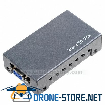 Composite Video AV  to VGA Converter/ BNC to VGA