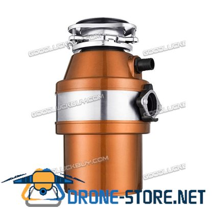 1 HP 2600 RPM Household Garbage Disposer Kitchen Waste Disposal Operation Orange