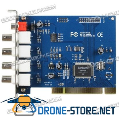 4CH D1 Record PCI-E DVR Card 2Ch Real-time Mobile Phone View TCP/IP 8101T
