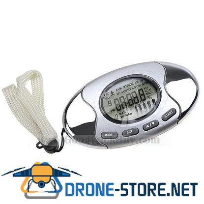 2 in 1 Pedometer with Fat Analyzer and Clock Belt Clip