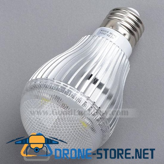 220V E27 LED White Light Spotlight Lamp Bulb 5x1W