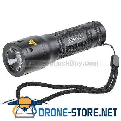 LED Focus Adajustable Flashlight Gree LED Torch w/Battery