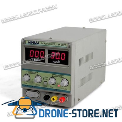 YIHUA 302D 30V 0-2A DC Regulated Adjustable Power Supply for Soldering Station 110V/220V