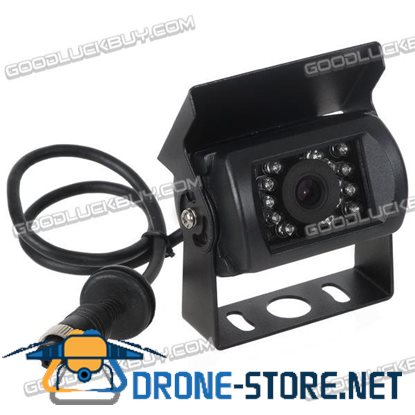 12V CCD 120 Degree Wide Angle 4pin Water-Shock Proof Rearview Backup Camera