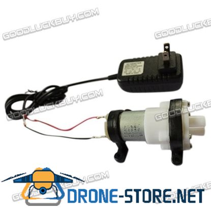 12V DC Diaphragm Pump Water Device Mini Self-priming Pump Fish Tank Pumps Motor w/ Adapter