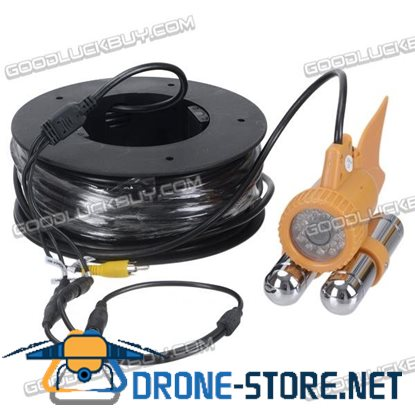 CCTV Underwater LED Waterproof Color Video 420TVL Camera 20m Cable for Fishing