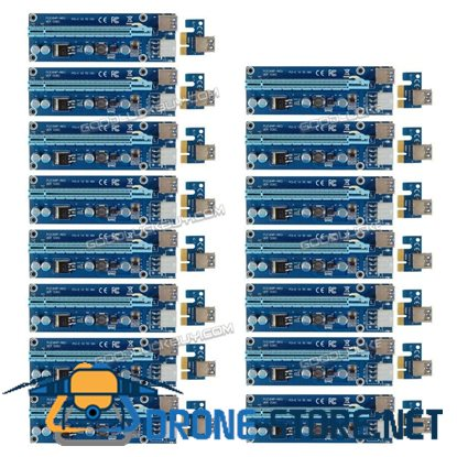 15X 60CM Power Cable USB 3.0 PCI-E Express 1xTo 16x Extender Riser Card Adapter