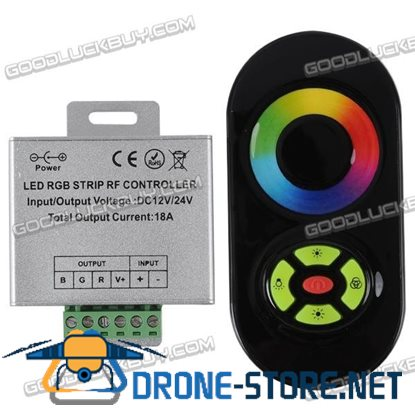 12-24V RF Remote Touch Rainbow Controller 18A~216W RGB LED-Black