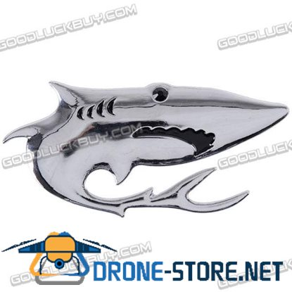 3D Car Chrome Emblem Badge Sticker SHARK Logo