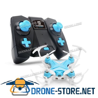 Remote Control Mini 2.4G RC Quadcopter Pocket Drone Kit with Camera Blue