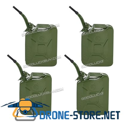 4Pcs 5 Gallon 20L Military Jerry Can Gasoline Fuel Storage Emergency Tank