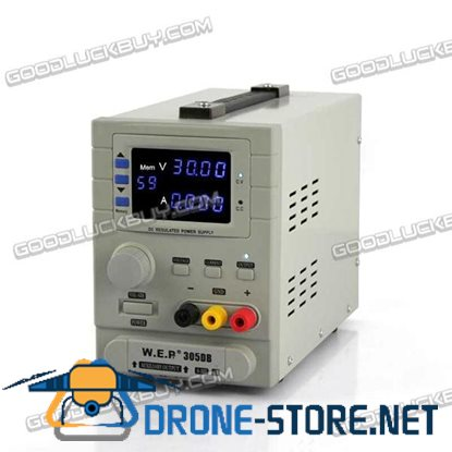 WEP-305DB 30V 5A Switching Regulated Adjustable Digital DC Power Supply