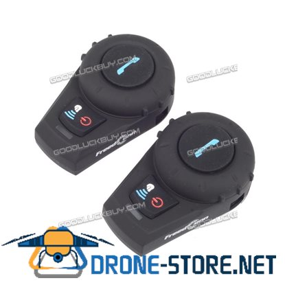 2pcs 500m Bluetooth Interphone BT Motorcycle Helmet Intercom Communication Headset FM