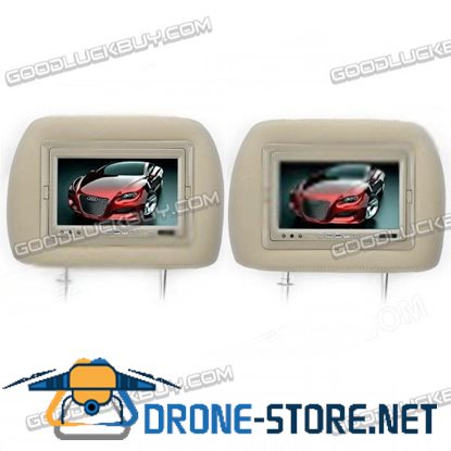7.0 inch TFT Car Headrest Monitor with Remote Controller 2-Pack