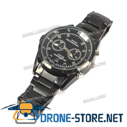 Black Metal Spy Watch Camera DVR Camcorder Full HD 1080p Video & Sound Recorder