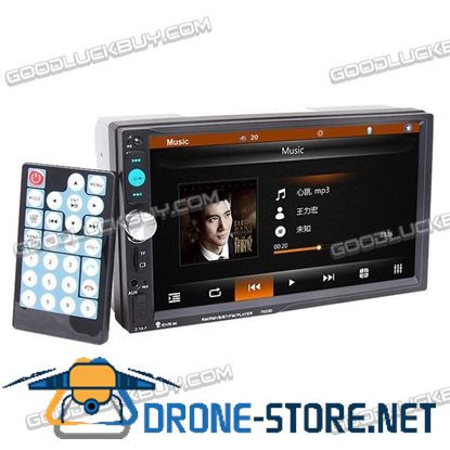 "7"" Double 2 Din in Dash Car Stereo MP5 MP3 Player Radio Bluetooth USB AUX 7023D"