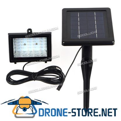 30 LED Solar Powered Waterproof Outdoor Garden Security Flood Light Lawn Lamp