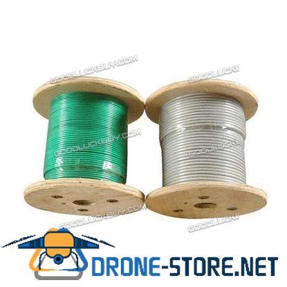 """T316 1/8"""" 1x19 Stainless Steel Cable Wire Rope 500FT"""