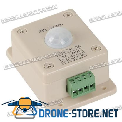 12-24V 8A Single Color LED Light Strip PIR Sensor Switch Light Controller