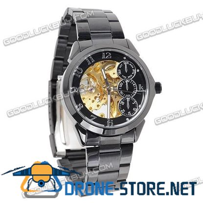 Stainless Steel Automatic Mechanical Men Wrist Watch IK Colouring 98111