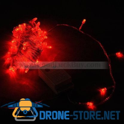 100 LED 10M Party String Christmas Rope Light Red (8-Mode 220V AC)