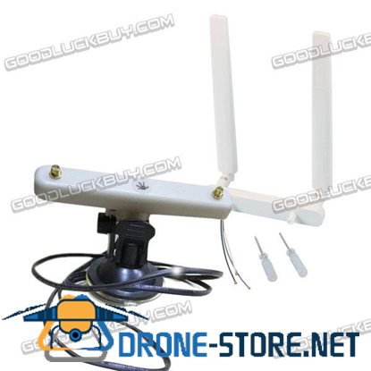 2*8dBi Antenna with Car Roof Holder Bracket Sucker for Inspire 1 Image Transmission