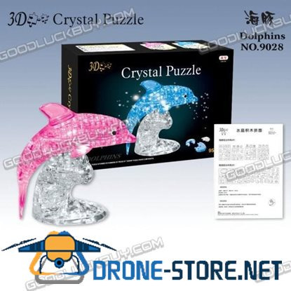 3D Crystal Furnish Dolphin Jigsaw Puzzle IQ Gadget 95pcs